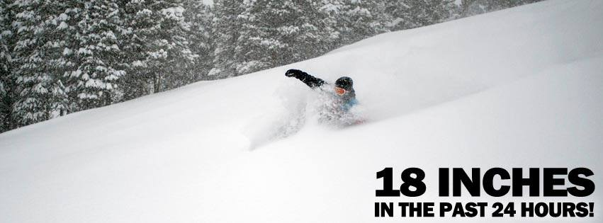 "18"" powder day at Keystone Resort! Photo Credit: Keystone Resort"