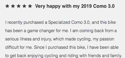 Specialized como e-bike rental